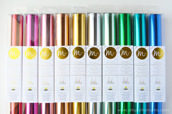 Minc Foil Color Options via Artsy Fartsy Mama