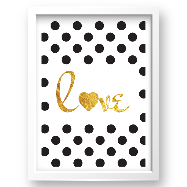 Free Printable Polka Dot Love 2 from @pinkimonogirl for a gallery wall