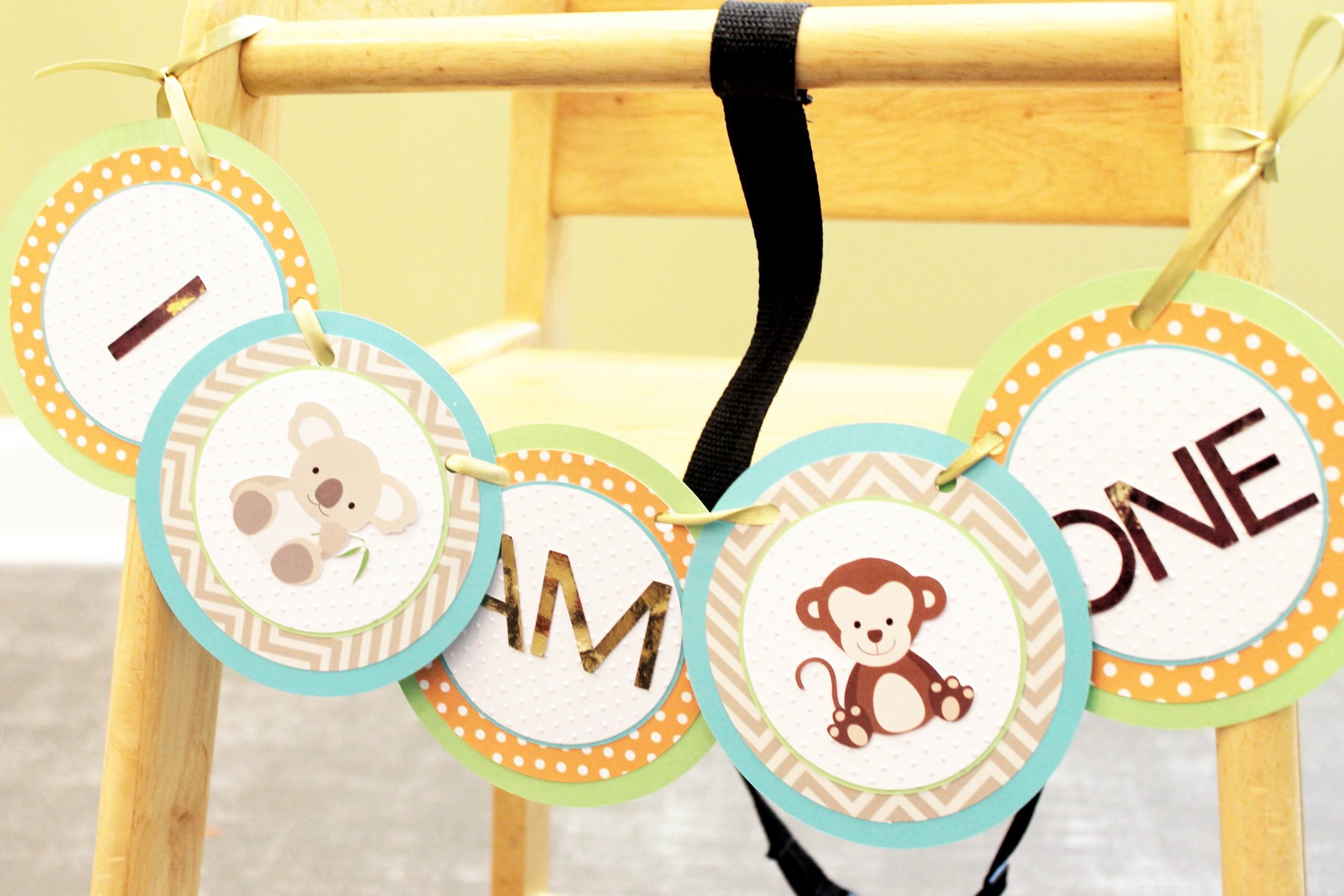Handcrafted -Highchair banner
