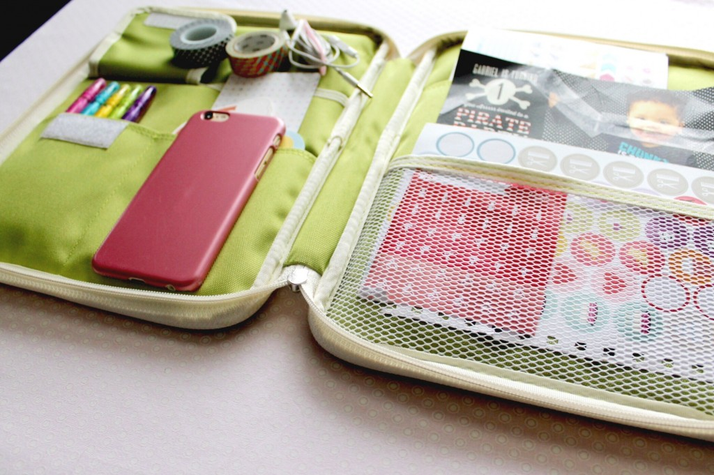 Inside the Better Together Note Pouch for the iPad