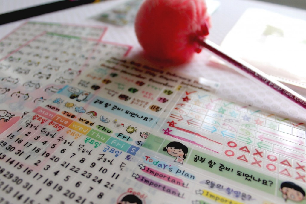 Korean Stationery for Planners