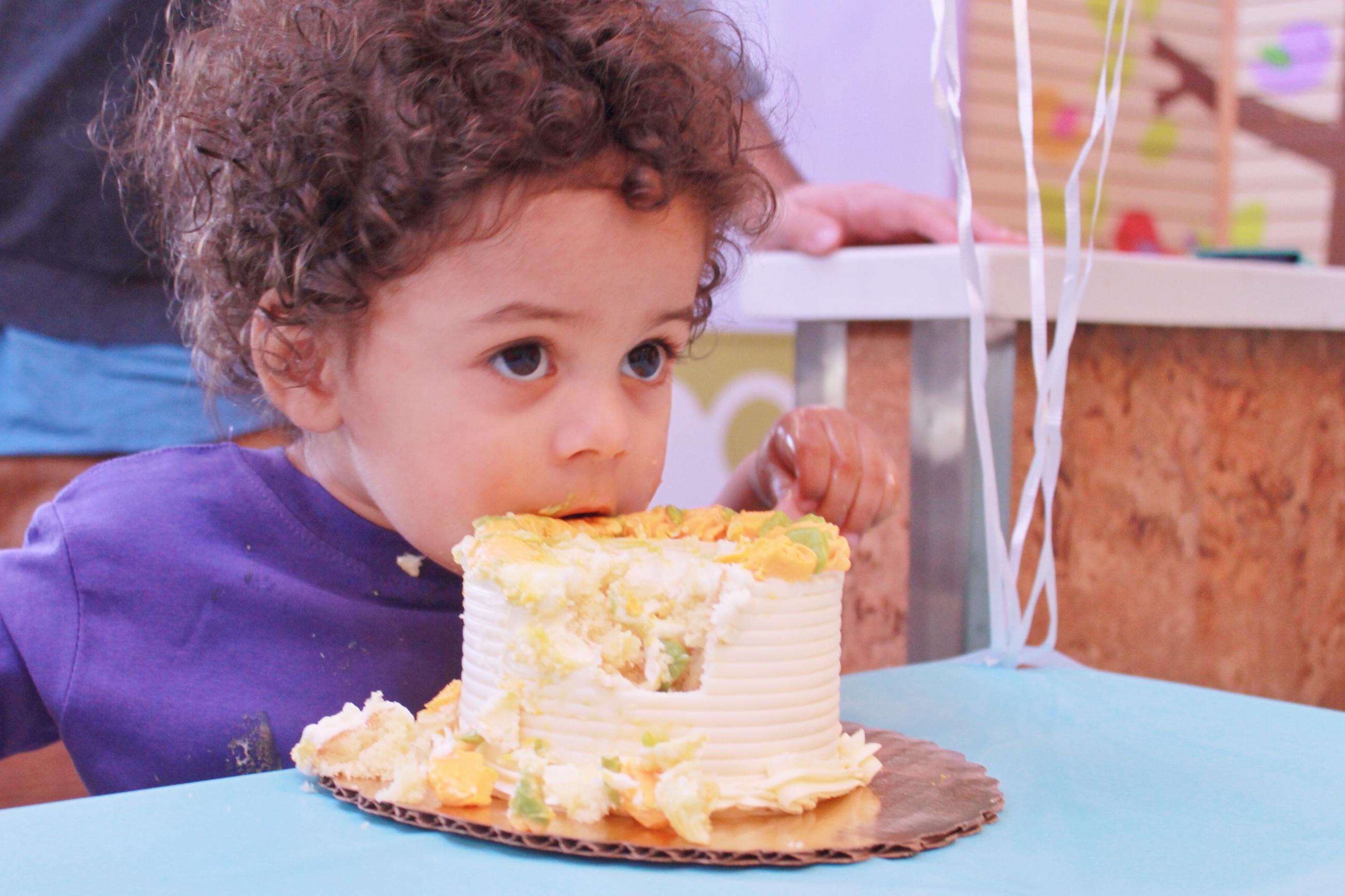 Splurge - Westley Enjoying His Smash Cake