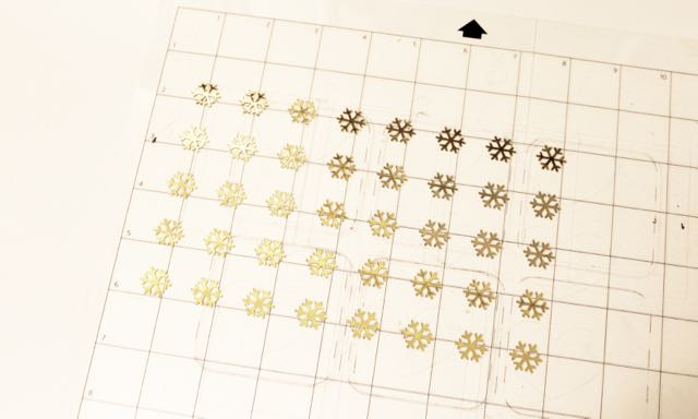 HTGAWCrafting Dec 2 Gold Foil Cut Snowflakes
