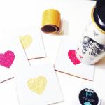 HTGAWC: Make Your Own DIY Glitter Washi Coasters