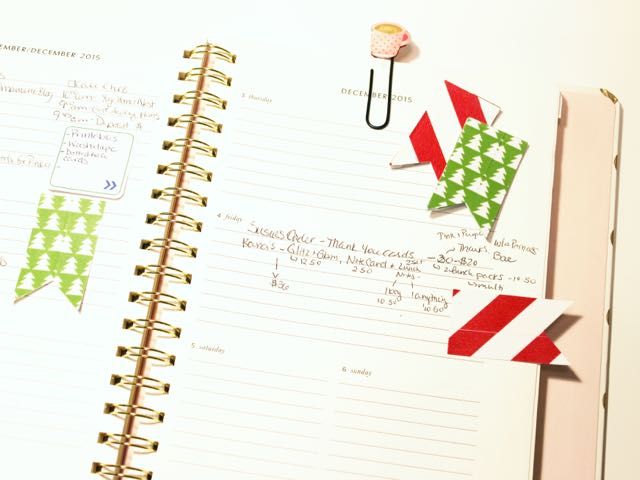 htgawcrafting Night 3 Holiday Sticky Note Flags In My Planner