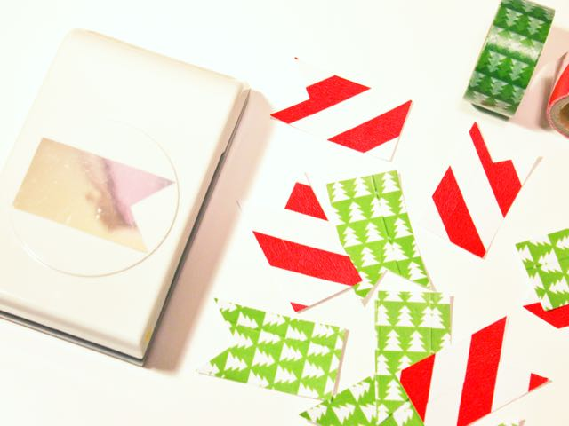 htgawcrafting Night 3 Holiday Sticky Note Flags Punched