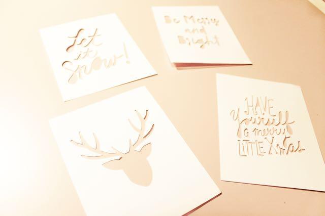 htgawcrafting Night 4 Holiday Cards Cut