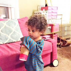Bottle Weaning Success - Westley Enjoys Mommy's Starbucks
