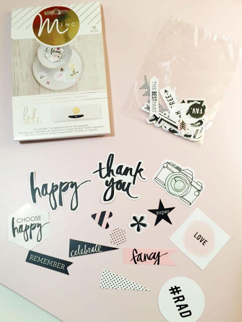 MINC Foil Planner Clips Pieces - Heidi Swapp MINC Ephemera