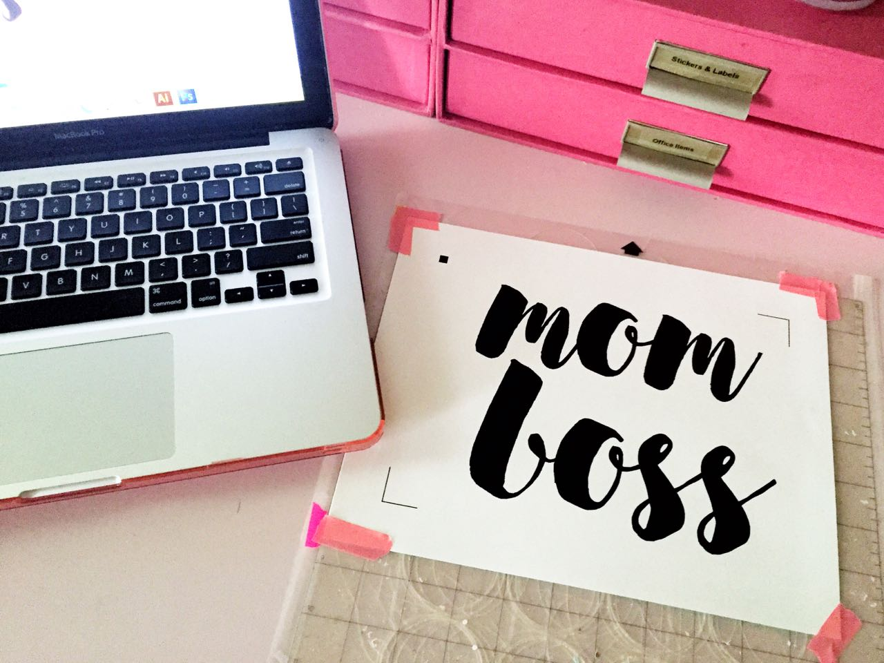 Up Glamming Office Supplies For National Pink Day 1