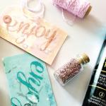 HTGAWC: DIY MINC Foil Shaker Gift Tags