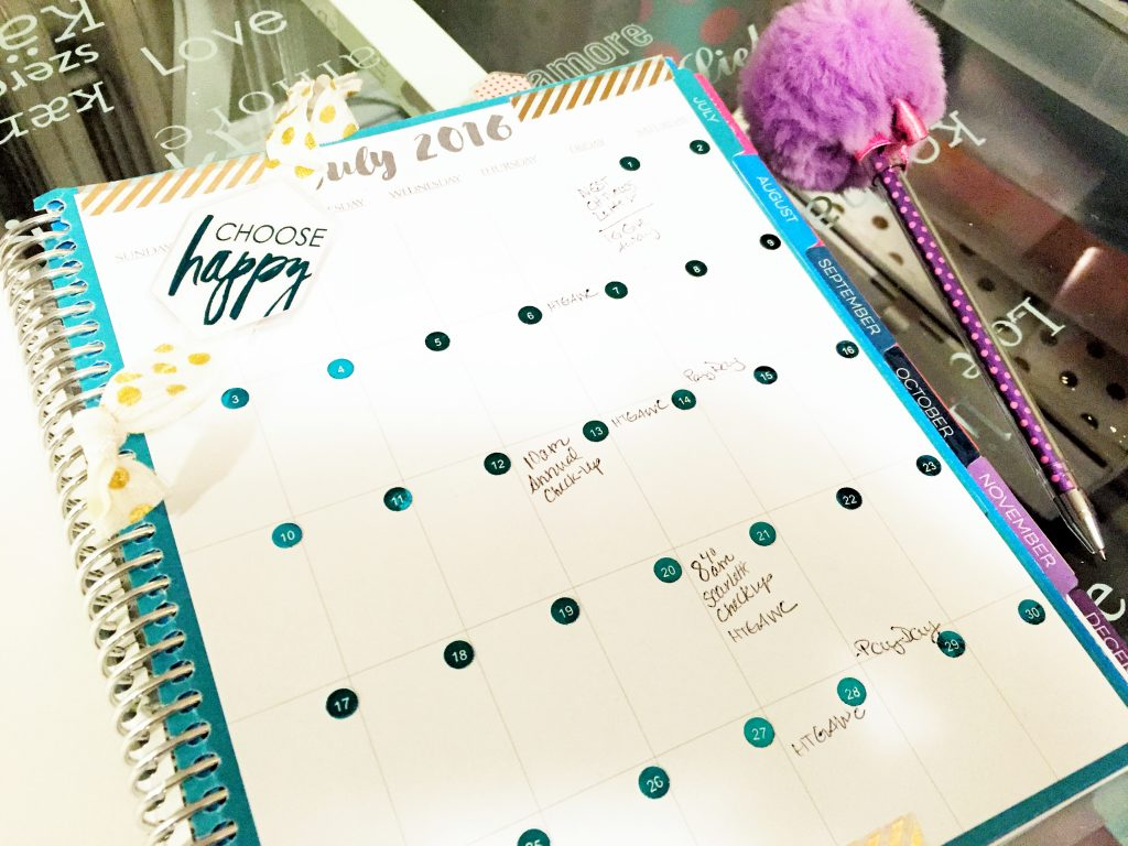 Notebook Planner Monthly Calendar