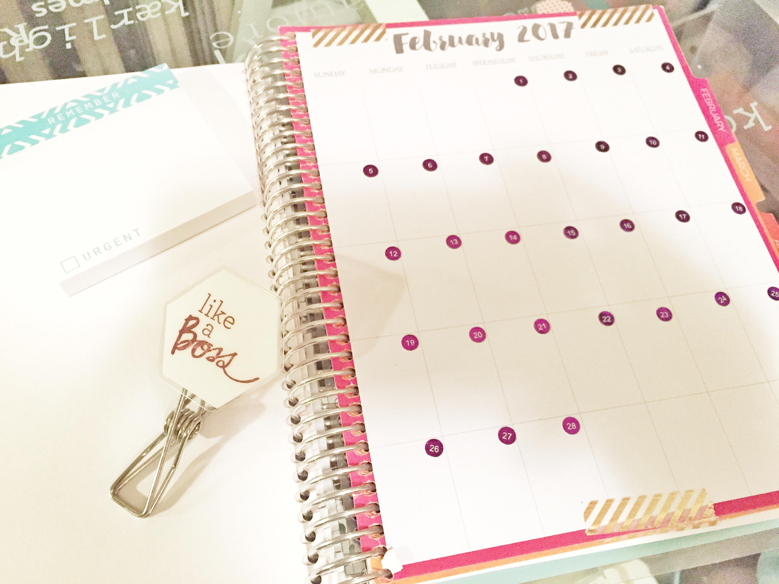 Calendar Notebook Design : How i transformed my erin condren notebook into a planner