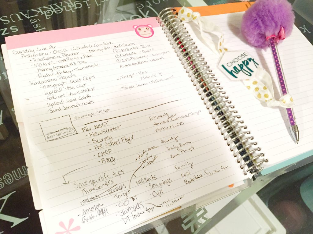Notebook Planner Planning Section