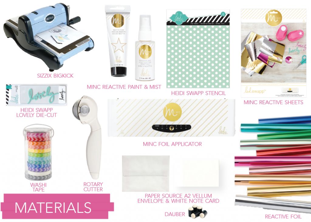 htgawc - Materials for DIY MINC Foil Stationery