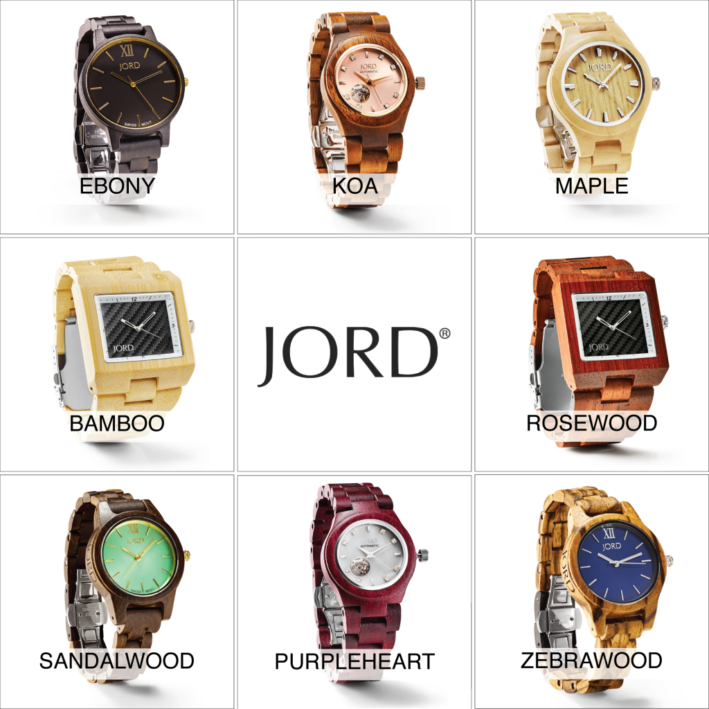 JORD Watches are made from several types of wood