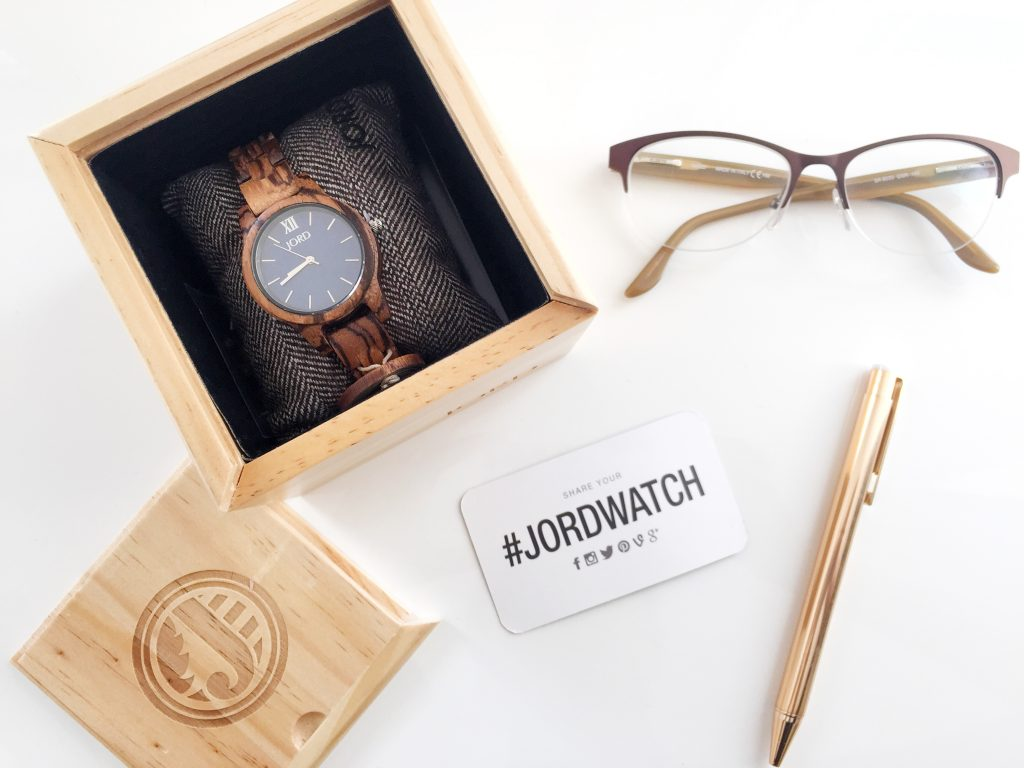 JORD Wood Watch - The Frankie 35 in Navy & Zebrawood