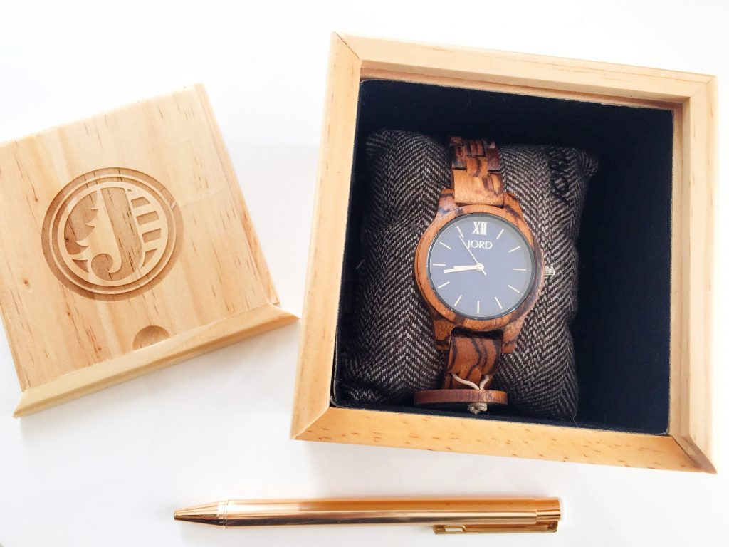 The JORD Wood Watch packaging like the watch is gorgeous.