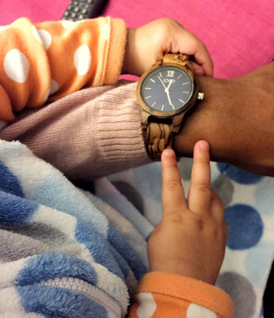 My daughter loves playing with my JORD Wood Watch.