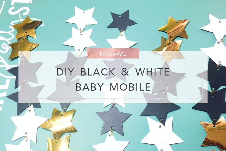 DIY Black & White Baby Mobile