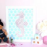 HTGAWC: DIY Glam Nursery Wall Art & Decor