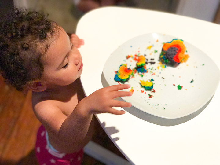 Even if your kids are too young to make cupcakes with Duff Tie-Dye cake mix, they're old enough to eat it up.