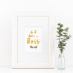 Free Printable Do It Like A Boss from @pinkimonogirl for a gallery wall