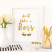 Free Printable Do It Like A Boss 2 from @pinkimonogirl for a gallery wall