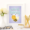 Free Printable Hello Lil' Honey from @pinkimonogirl for a gallery wall in a nursery