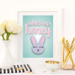 Free Printable What Up Honey from @pinkimonogirl for a gallery wall in a nursery
