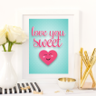Free Printable Love You Sweetheart from @pinkimonogirl for a gallery wall in a nursery