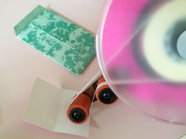 DIY Accordion Photo Frame - Adhesive strip