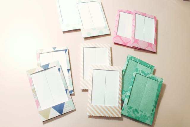 DIY Accordion Photo Frame - Folded Frames