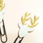 HTGAWC: Make Your Own DIY Glitter Reindeer Planner Clips