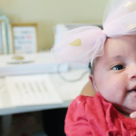 HTGAWC: DIY Baby Headband With MINC Foil & A Tulle Bow