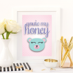 Free Printable You're My Honey from @pinkimonogirl for a gallery wall in a nursery