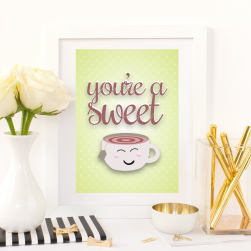 Free Printable You're A Sweet Tea from @pinkimonogirl for a gallery wall in a nursery